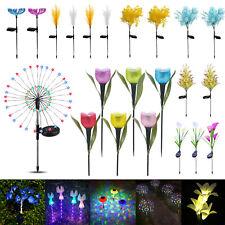 LED Solar Flower Light Outdoor Garden Yard Landscape Waterproof Decor Lamp LOT