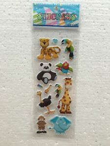 Pvc School Sticker For Lot-Kids Reward Animals Sticker Birthday Gifts