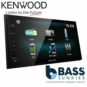 """Kenwood DMX-125DAB 6.8"""" Bluetooth DAB+ Touch Car Android Stereo & DAB Aerial"""