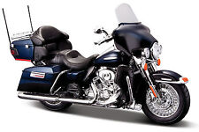 Harley Davidson Modell, 2013 FLHTK Electra Glide Ultra, Maisto Motorrad 1:12, bl