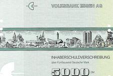 Volksbank Essen Inhaberschuldverschreibung 1990 Geno Bank Essen eG Anleihe NRW