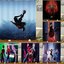 Miles Morales Spider-Man Bathroom Shower Curtains Waterproof Bath Curtains Hook