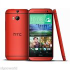 """Unlocked 5"""" HTC One M8 4G LTE Smartphone Android 32GB GSM WIFI Cell Phone RED"""