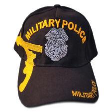 US Military Police Hat Black Adjustable Cap