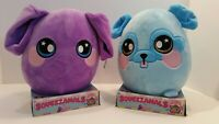 Squeezamals Series 2 Scented Lot - Blue Dog and Purple Elephant