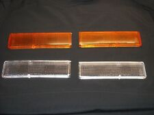 TOYOTA MR2 Mk1 AW11 CLEAR REAR INDICATOR/TURN LENSES WITH AMBER BULBS