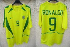 Maillot BRÉSIL BRASIL vintage RONALDO NIKE World Cup 2002 jersey shirt trikot L