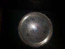 "Vintage Silver Platter Serving Tray - ""Spring Flower"" WM Rogers & Sons 2072/G"