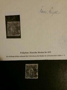 Briefmarke Altdeutschland Bremen  , Mi. Nr. 14  gestempelt , geprüft Engel
