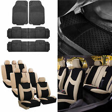 3 Row 8 Seaters Beige Black Seat Covers For Auto Full Set With Floor Mats Fits 2017 Dodge Durango