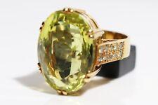 Stunning 26.34 Carat Beryl and Diamond Modern Dress Ring, 18ct gold, UK Size R