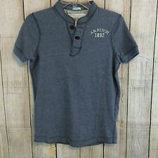 Abercrombie & Fitch Men's Muscle Fit Shirt Small Gray w/ Insignia Left Chest