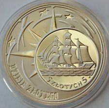 Poland 10 Zlotych, 2005, Sail Ship Gdynia, History of Polish Zloty Silver Proof