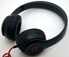 GENUINE Beats by Dr Dre Solo 2 Wired Headphones BLACK Solo2 B0518 folding audio