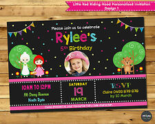LITTLE RED RIDING HOOD PERSONALISED INVITATION BIRTHDAY PARTY SUPPLIES PHOTO