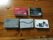Lot of 100 COLLECTIBLE ONLY VISA MASTERCARD CARDS