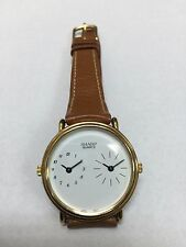 Brand New Dual Time Zone Unisex Sharp Leather Watch