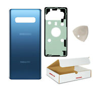 Replacement Fit Samsung Galaxy S10 Plus G975 Prism Blue Back Glass Battery Cover