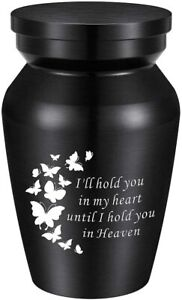 Small Cremation Urns for Dog/Pet Ashes Mini Keepsake Urn Aluminum Ashes Keepsake