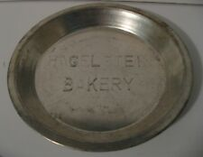 "A Vintage Hagelstein Bakery 9"" Pie Tin Metal Baking Pan"