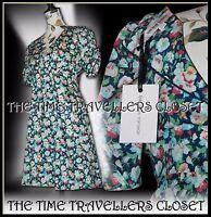 Topshop Kate Moss Floral Pansy Tea Dress 1940s WW2 Landgirl Vintage UK 12 40 6