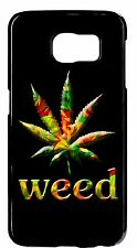 Weed Leaf Marijuana Joint Cool Hard Rubber Case Cover For Samsung Galaxy Note 5
