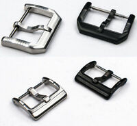 Stainless Steel Watch Buckle Clasp Silver Black PVD 18mm 20mm Brushed Dive Tang