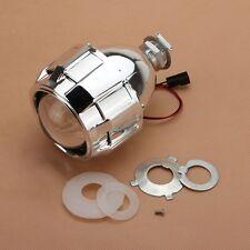 """2.5"""" LHD Xenon Mini Bi-xenon HID Clear Projector Lens Shroud Headlight H1 H4 H7"""