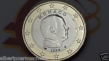 MONACO 1 euro 2014 fdc UNC Principe ALBERTO prince albert II Монако 摩納哥公國