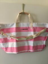 Victoria's Secret Discontinued Pink & White Striped Luggage New