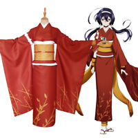 Bungo Stray Dogs Kyouka Izumi Cosplay Costume Japanese Kimono Outfit Suit S-3XL