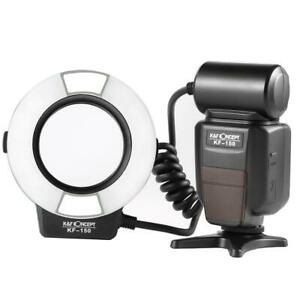 K&F Concept Pro KF-150 Makro E-TTL Ringblitz For Canon LED Auxiliary Light .005