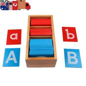 Sandpaper Alphabets Card Montessori Wooden Letter Early Child Education Material