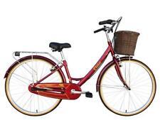 "Tiger Classic 15"" Ladies Heritage Hybrid Bike Red Alloy Frame 700c 3 Speed"