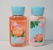 Pretty as a Peach Shower Gel and Body Lotion Travel Set 3 fl oz New