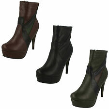 Stiletto Synthetic Ankle Boots for Women
