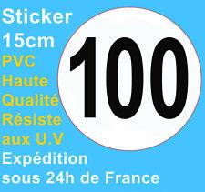 Sticker speed restriction limited to 100 km/h vinyl Truck Car Bus Van Vehicle HQ