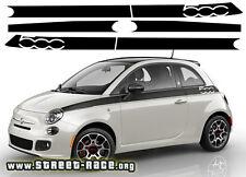 FIAT 500 PRIMA EDIZIONE LATERALE RACING strisce Decalcomanie Adesivi Grafiche