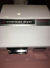 AMERICAN DRYER AM 10 AUTOMATIC HAND DRYER  Steel WHITE 15 Amp 115 Volt New