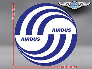 AIRBUS ROUND LOGO DECAL / STICKER 3.5 x 3.5 in / 9 x 9 cm