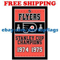 Philadelphia Flyers Stanley Cup Champions Flag Banner 3x5 ft 2019 NHL Hockey NEW
