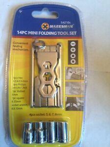 Motorbike Emergency Mini Folding Pocket Folding Tool Set 14 in 1 Socket Wrench