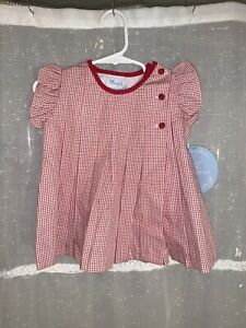 Little English Red/White Gingham Top  -18 Months