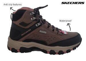 Ladies Womens Skechers Brown 158257 Waterproof Walking Hiking Anti Slip Boots