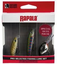 SPINNING RAPALA ESCA ARTIFICIALE TROTA PERSICO KIT 3 PEZZI ULTRALIGHT