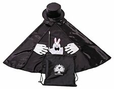 Kids Beginner Magician Costume Set w/ Storage Bag - Cape, Wand, Gloves, Magic