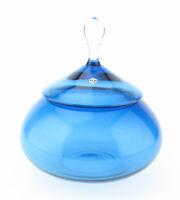 Gral Glas gralglas Leichlingen Mid Century Dose Bonboniere 50er 60er mcm blau