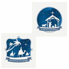 Pack of 10 Christmas Cards with Foil Detail - 8808 3 Kings / Nativity
