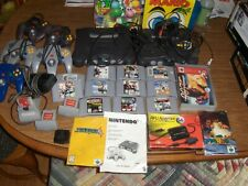 LOT 2 NINTENDO 64 SYSTEMS & 12 GAMES CONTROLLERS MEMORY &