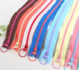 9 Colors 20 CM 30 CM 45 CM 60 CM Ring Pull Zipper For Purse or Bags Manufacture